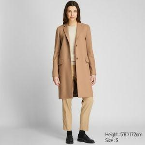 NWT Uniqlo women Cashmere  blend chester coat